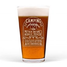 Camping Cure Pint Glass
