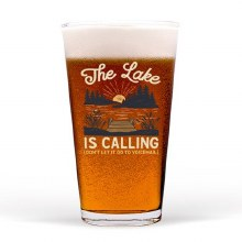 The Lake Is Calling Pint Glass