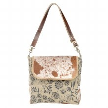 Floral Canvas And Cowhide Purs