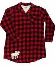 Plaid Nightshirt with moose applique