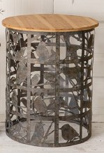 Lg Bird Cutout Side Table