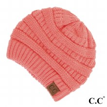 Coral Cc Beanie Hat