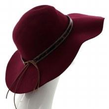 Burgundy & Leopard Floppy Hat
