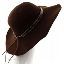 Brown & Leopard Floppy Hat