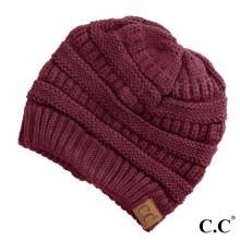 Burgundy Cc Beanie Hat
