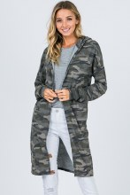 Camo Duster with hood and pockets