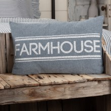 Blue Farmhouse Pillow