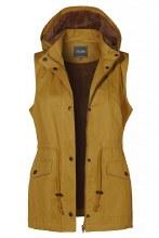 Mustard fur lined utility vest
