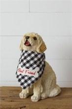Best Friend Plaid Dog Bandana