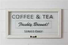 Coffee & Tea Decorative Window