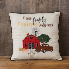 Faith Family Farming Friends Pillow