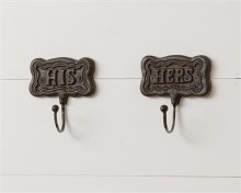 His & Hers Cast Iron Wall Hook