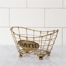 Copper Bath Basket