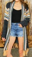Black Aztec Sweater  S/m Black