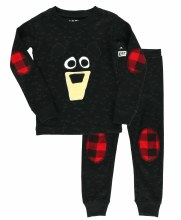 Yth Ls Bear Plaid 2t Black