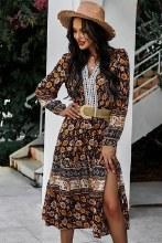 Long Boho Floral Dress