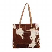 Caramel Front Pocket Tote Bag