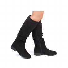 Black Slouch Boots 6 Black