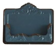 Distressed Blue Card Holder