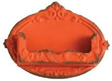 Distressed Orange Card Holder