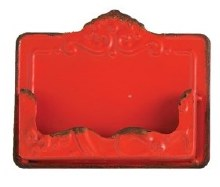 Red Distressed Card Holder
