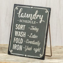 Standing Laundry Sign