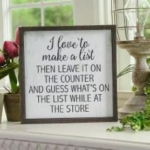 Make A List Sign