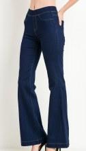 Dark Wash Bell Bottom Stretch Jeans