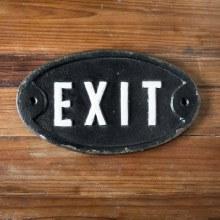 Cast Iron Exit Sign