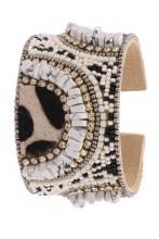 Boho Leopard Seed Cuff Bracelet