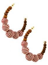 Earrings Red Striped