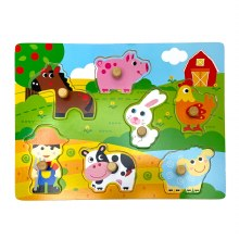 Animal Farm Wooden Puzzle Game
