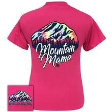 Short sleeve Tye dye Mountain Mama Tee