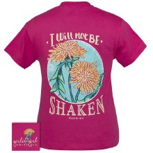 Short Sleeve Dandelion I will Not be Shaken T-shirt