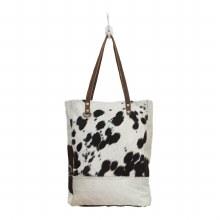 Cowhide Black & White Bag