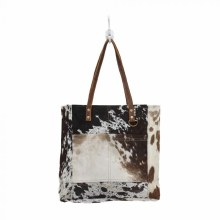 Hair On Front Pocket Cow Tote