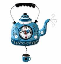 Kettle Blue Clock