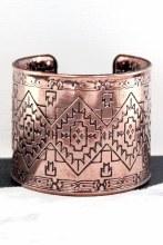 Burnished Copper Cuff