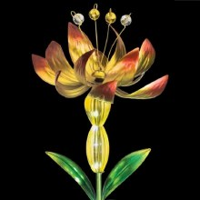 Flower Spinner Solar Stake