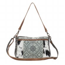Dual Strap Cross Body With Canvas Cowhide and Leather