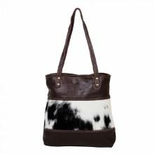 Furred Leather & Hairon Bag