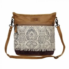 Canvas & Leather Hand Bag