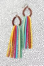Copper Colorful Tassel Earring