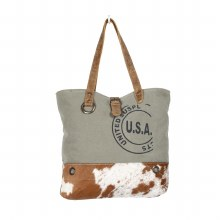 Usa Stamp Cow Tote