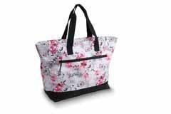 Danshuz Cheetah Floral Tote B20516 O/S WHT