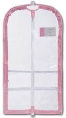 Danshuz Clear Garment Bag B595 O/S PNK