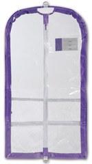 Danshuz Clear Garment Bag B596 O/S PUR