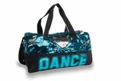 Danshuz Sequin Dance Heart Duffel B842TRQ O/S TURQ