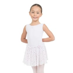 Capezio Tank Dress w/ Glitter Skirt 11532C 2-4 WHT