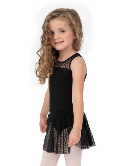 Capezio Sweet Pea Pull On Skirt 11685C 6-7 BLK